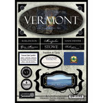 Scrapbook Customs - United States Collection - Vermont - State Cardstock Stickers - Travel