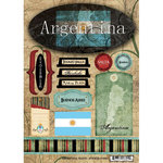 Scrapbook Customs - World Collection - Argentina - Cardstock Stickers - Travel