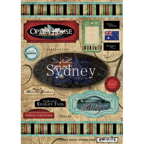 Scrapbook Customs World Collection Australia Cardstock Stickers Sydney Travel