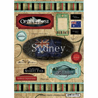 Scrapbook Customs - World Collection - Australia - Cardstock Stickers - Sydney Travel
