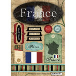 Scrapbook Customs - World Collection - France - Cardstock Stickers - Travel