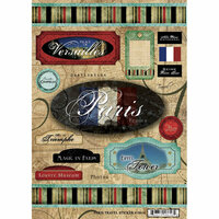 Scrapbook Customs - World Collection - France - Cardstock Stickers - Travel - Paris