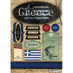 Scrapbook Customs - World Collection - Greece - Cardstock Stickers - Travel