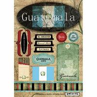 Scrapbook Customs - World Collection - Guatemala - Cardstock Stickers - Travel