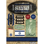 Scrapbook Customs - World Collection - Israel - Cardstock Stickers - Travel