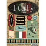 Scrapbook Customs - World Collection - Italy - Cardstock Stickers - Travel