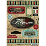 Scrapbook Customs - World Collection - Italy - Cardstock Stickers - Travel - Florence