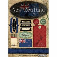 Scrapbook Customs - World Collection - New Zealand - Cardstock Stickers - Travel