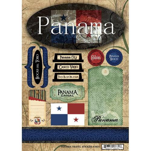 Scrapbook Customs - World Collection - Panama - Cardstock Stickers - Travel