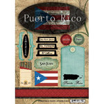Scrapbook Customs - World Collection - Puerto Rico - Cardstock Stickers - Travel
