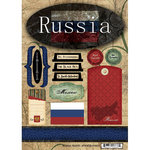 Scrapbook Customs - World Collection - Russia - Cardstock Stickers - Travel