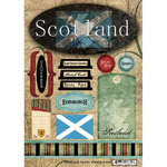 Scrapbook Customs - World Collection - Scotland - Cardstock Stickers - Travel