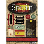 Scrapbook Customs - World Collection - Spain - Cardstock Stickers - Travel
