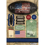 Scrapbook Customs - World Collection - USA - Cardstock Stickers - Travel