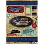 Scrapbook Customs - World Collection - USA - Cardstock Stickers - Travel - Washington DC