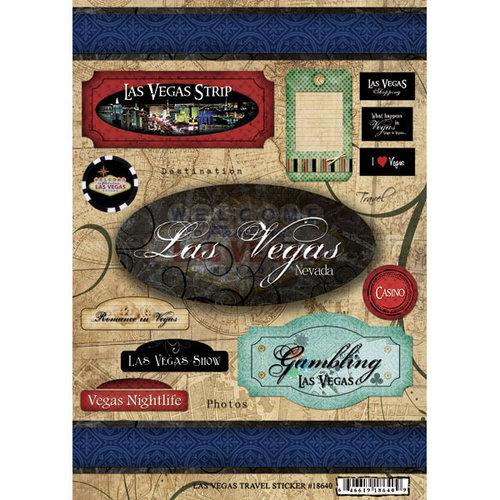 Scrapbook Customs - World Collection - USA - Cardstock Stickers - Travel - Las Vegas