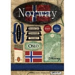 Scrapbook Customs - World Collection - Norway - Cardstock Stickers - Travel