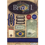 Scrapbook Customs - World Collection - Brazil - Cardstock Stickers - Travel
