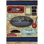 Scrapbook Customs - United States Collection - Massachusetts - Cardstock Stickers - Travel - Boston