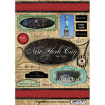 Scrapbook Customs - United States Collection - New York - Cardstock Stickers - Travel - New York City