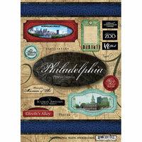 Scrapbook Customs - United States Collection - Pennsylvania - Cardstock Stickers - Travel - Philadelphia