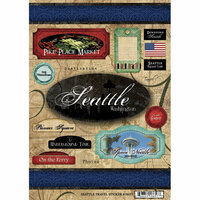 Scrapbook Customs - United States Collection - Washington - Cardstock Stickers - Travel - Seattle