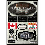 Scrapbook Customs - World Collection - Canada - Cardstock Stickers - Travel - Prince Edward Island