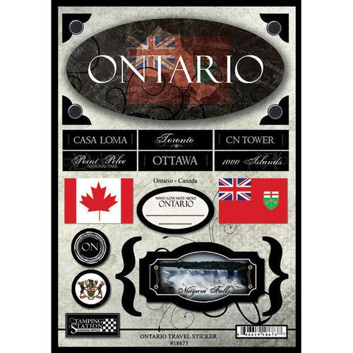 Scrapbook Customs - World Collection - Canada - Cardstock Stickers - Travel - Ontario