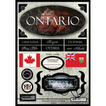 Scrapbook Customs - World Collection - Canada - Cardstock Stickers - Travel - Ontario