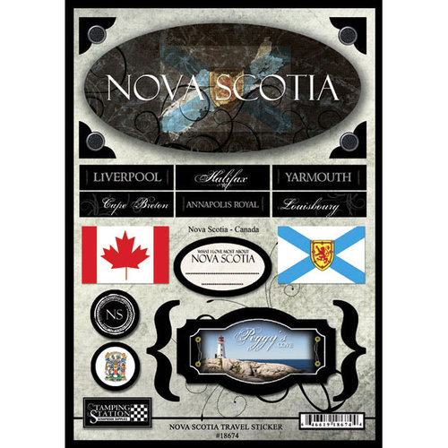 Scrapbook Customs - World Collection - Canada - Cardstock Stickers - Travel - Nova Scotia