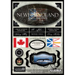 Scrapbook Customs - World Collection - Canada - Cardstock Stickers - Travel - Newfoundland