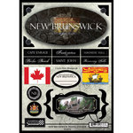Scrapbook Customs - World Collection - Canada - Cardstock Stickers - Travel - New Brunswick