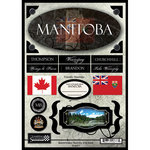 Scrapbook Customs - World Collection - Canada - Cardstock Stickers - Travel - Manitoba
