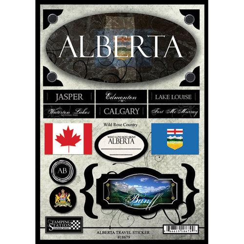Scrapbook Customs - World Collection - Canada - Cardstock Stickers - Travel - Alberta
