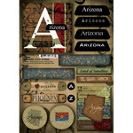 Scrapbook Customs - United States Collection - Arizona - Cardstock Stickers - Patchwork