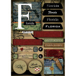 Scrapbook Customs - United States Collection - Florida - Cardstock Stickers - Patchwork