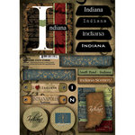 Scrapbook Customs - United States Collection - Indiana - Cardstock Stickers - Patchwork