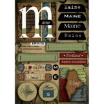 Scrapbook Customs - United States Collection - Maine - Cardstock Stickers - Patchwork