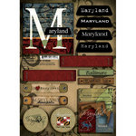 Scrapbook Customs - United States Collection - Maryland - Cardstock Stickers - Patchwork