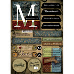 Scrapbook Customs - United States Collection - Massachusetts - Cardstock Stickers - Patchwork
