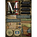 Scrapbook Customs - United States Collection - Minnesota - Cardstock Stickers - Patchwork