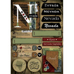 Scrapbook Customs - United States Collection - Nevada - Cardstock Stickers - Patchwork