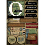 Scrapbook Customs - United States Collection - Oregon - Cardstock Stickers - Patchwork
