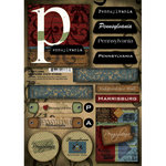 Scrapbook Customs - United States Collection - Pennsylvania - Cardstock Stickers - Patchwork