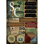 Scrapbook Customs - United States Collection - South Carolina - Cardstock Stickers - Patchwork