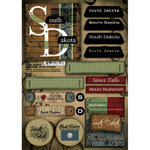 Scrapbook Customs - United States Collection - South Dakota - Cardstock Stickers - Patchwork