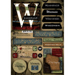 Scrapbook Customs - United States Collection - Wisconsin - Cardstock Stickers - Patchwork