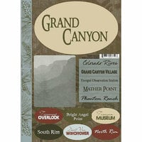 Scrapbook Customs - United States Collection - Arizona - National Park - Cardstock Stickers - Grand Canyon