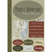 Scrapbook Customs - United States Collection - South Dakota - National Park - Cardstock Stickers - Mount Rushmore