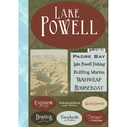 Scrapbook Customs - United States Collection - Utah - National Park - Cardstock Stickers - Lake Powell